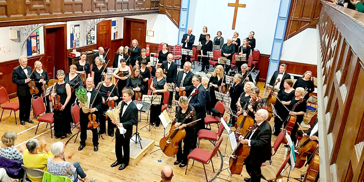 The orchestra during the Spring concert 2019